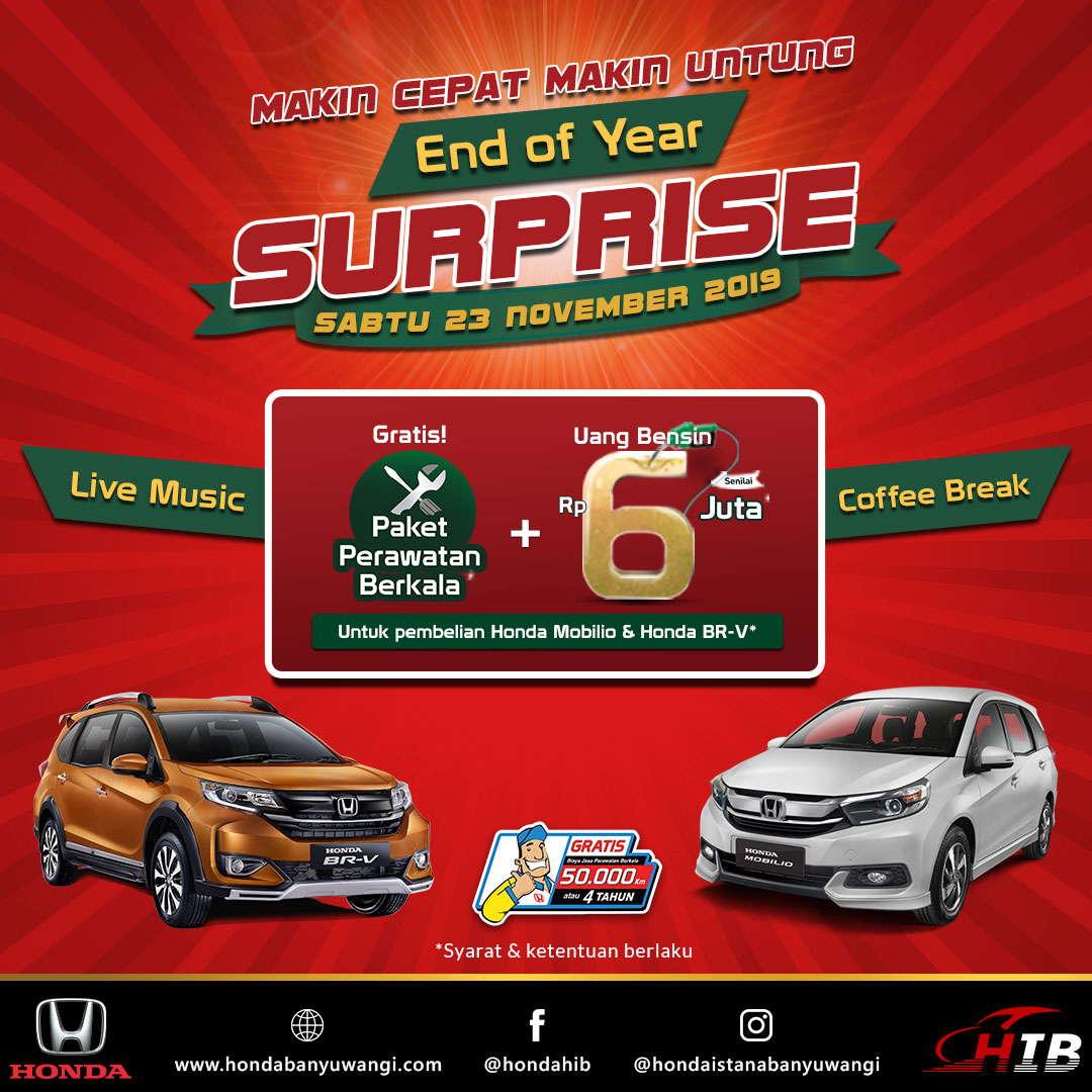 End of Year Surprise Honda Istana Banyuwangi