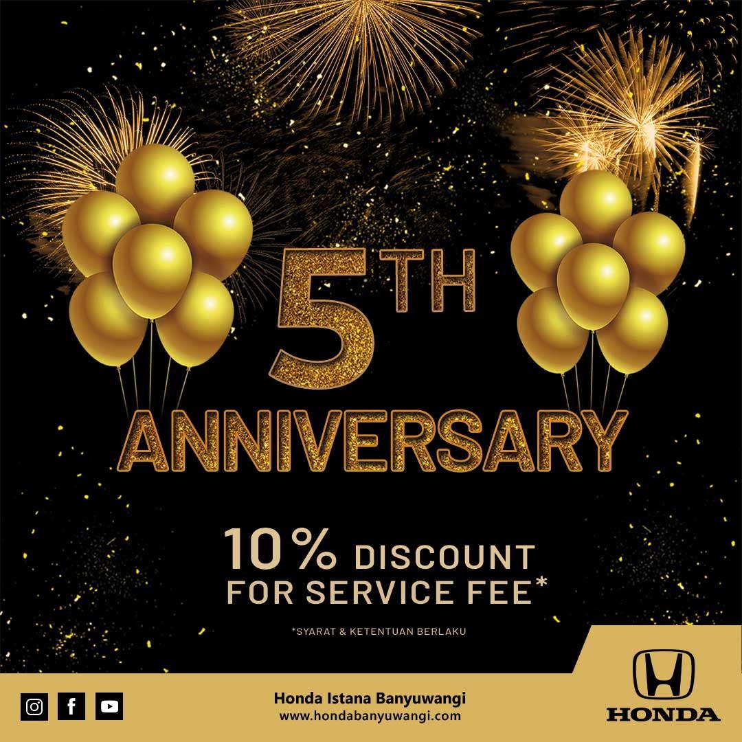 Honda Istana Banyuwangi 5th Anniversary Service Promo